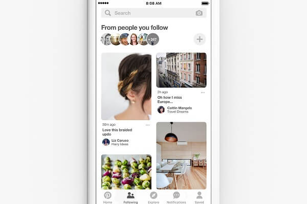 Pinterest announced it is rolling out a new way to discover ideas from the people and brands you already follow in the platform.