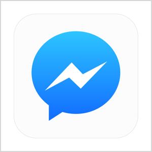 Facebook Messenger Symbol Grafik.