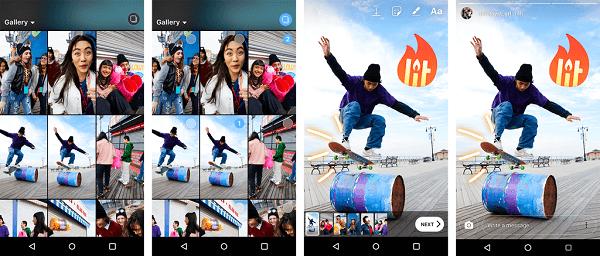 Android-Nutzer haben jetzt die Möglichkeit, mehrere Fotos und Videos gleichzeitig in ihre Instagram-Geschichten hochzuladen.