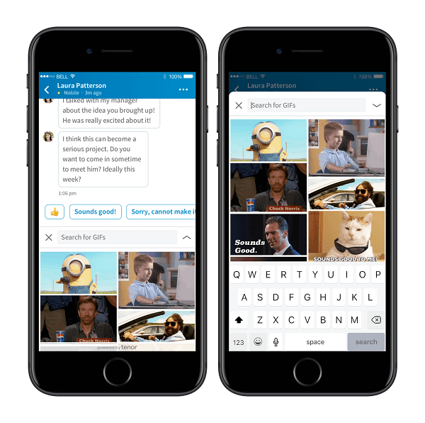LinkedIn and Google-owned Tenor partnered to integrate GIFs directly into LinkedIn's Messaging platform.