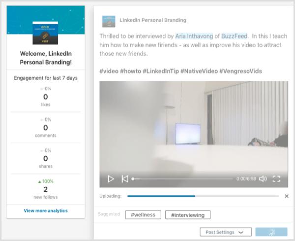 LinkedIn native video company page