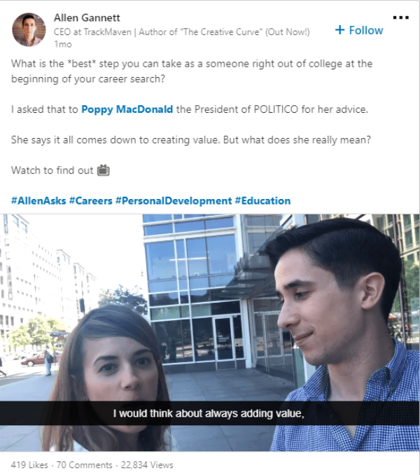 LinkedIn members now have the option to add closed captioning to their videos uploaded to the platform.