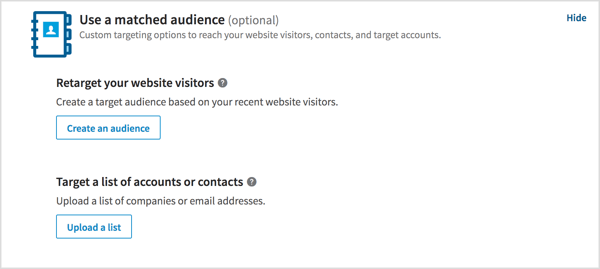 Target your website visitors or a specific list of companies or email addresses.