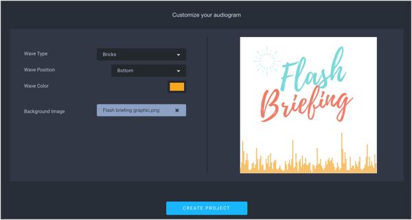Customize your audiogram.