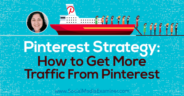 Pinterest Strategy: How to Get More Traffic from Pinterest featuring insights from Jennifer Priest on the Social Media Marketing Podcast.
