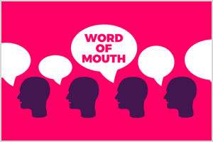 This is an infographic from Jay Baer's Chatter Matters research. It states that 83% of Americans have made a word-of-mouth recommendation.