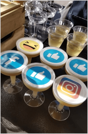 Design edible decorations with your Instagram nametag.