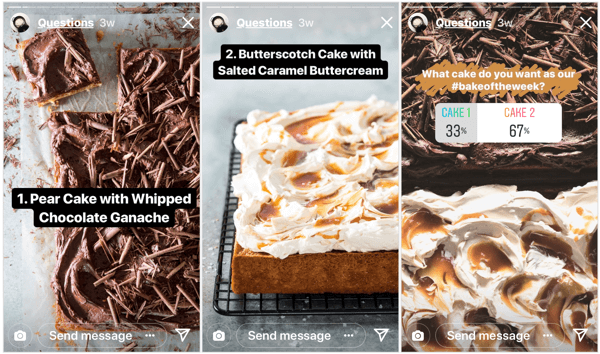 Food magazine Bake From Scratch gave their Instagram followers control of their content schedule with this quick poll.