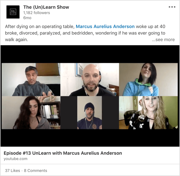 LinkedIn video show with co-hosts example.
