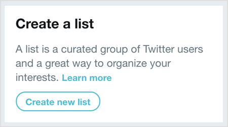 Click Create New List and then select the users you want to add to your Twitter list.