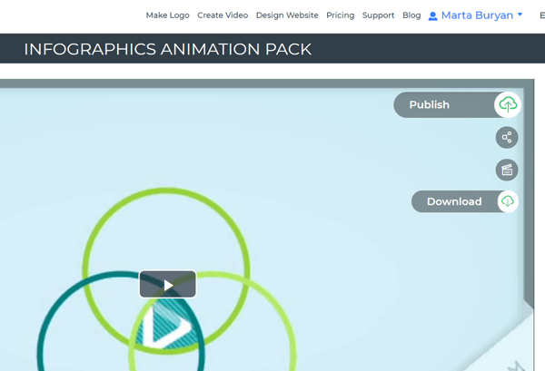 Publish or download your Renderforest infographic video.