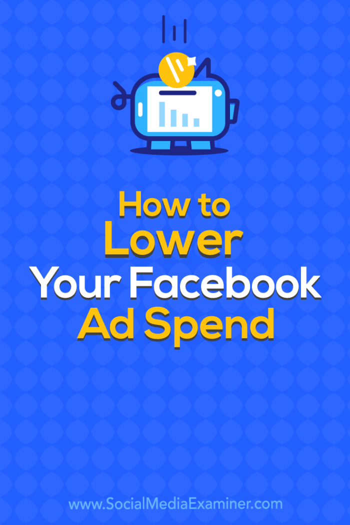 Find four tips for reducing the cost of acquiring and converting new customers with Facebook ads.