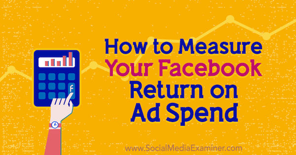 How to Measure Your Facebook Return on Ad Spend by Charlie Lawrance on Social Media Examiner.