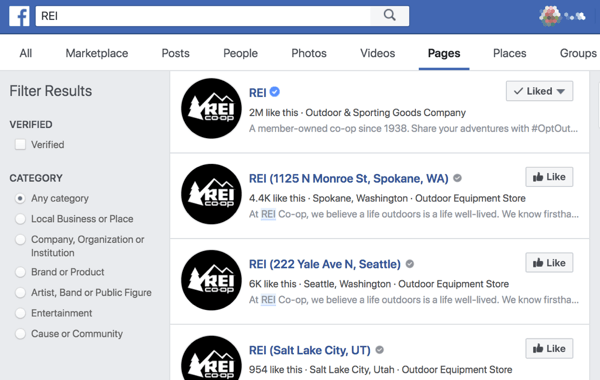 Le pagine di posizione di Facebook semplificano la ricerca di negozi e uffici nelle vicinanze.