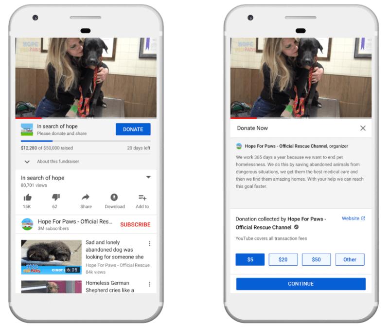 YouTube Giving verlässt die Beta-Version und wird in den kommenden Monaten Tausenden von Entwicklern in den USA zur Verfügung stehen.