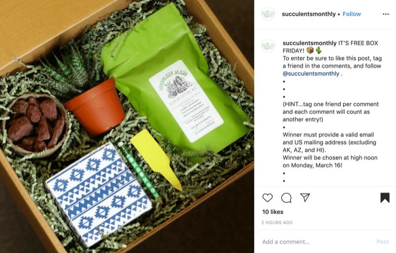 Beispiel eines einfachen Instagram-Wettbewerbs
