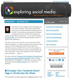 E-Newsletter from Jason Falls and Social Media Explorer
