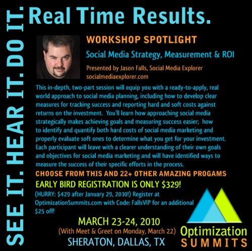 Jason Falls - 2010 Optimization Summits
