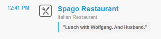 Foursquare Checkin to Spago