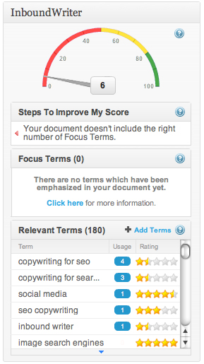 InboundWriter offers Copywriting for SEO help