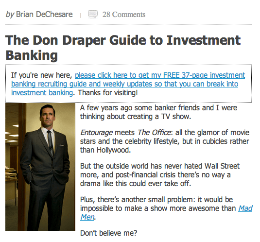 don draper guide to banking