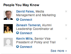 """LinkedIn """"People You May Know"""" recommendations"""