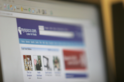 Washington, UNITED STATES: View of the homepage of the MySpace social networking website in Washington 15 May 2007. AFP PHOTO/Nicholas KAMM (Photo credit should read NICHOLAS KAMM/AFP/Getty Images)
