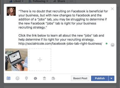 How to Share A Photo With A Link On Facebook