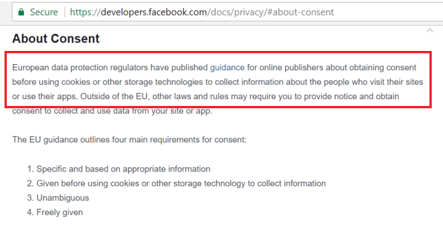 facebook cookie policy
