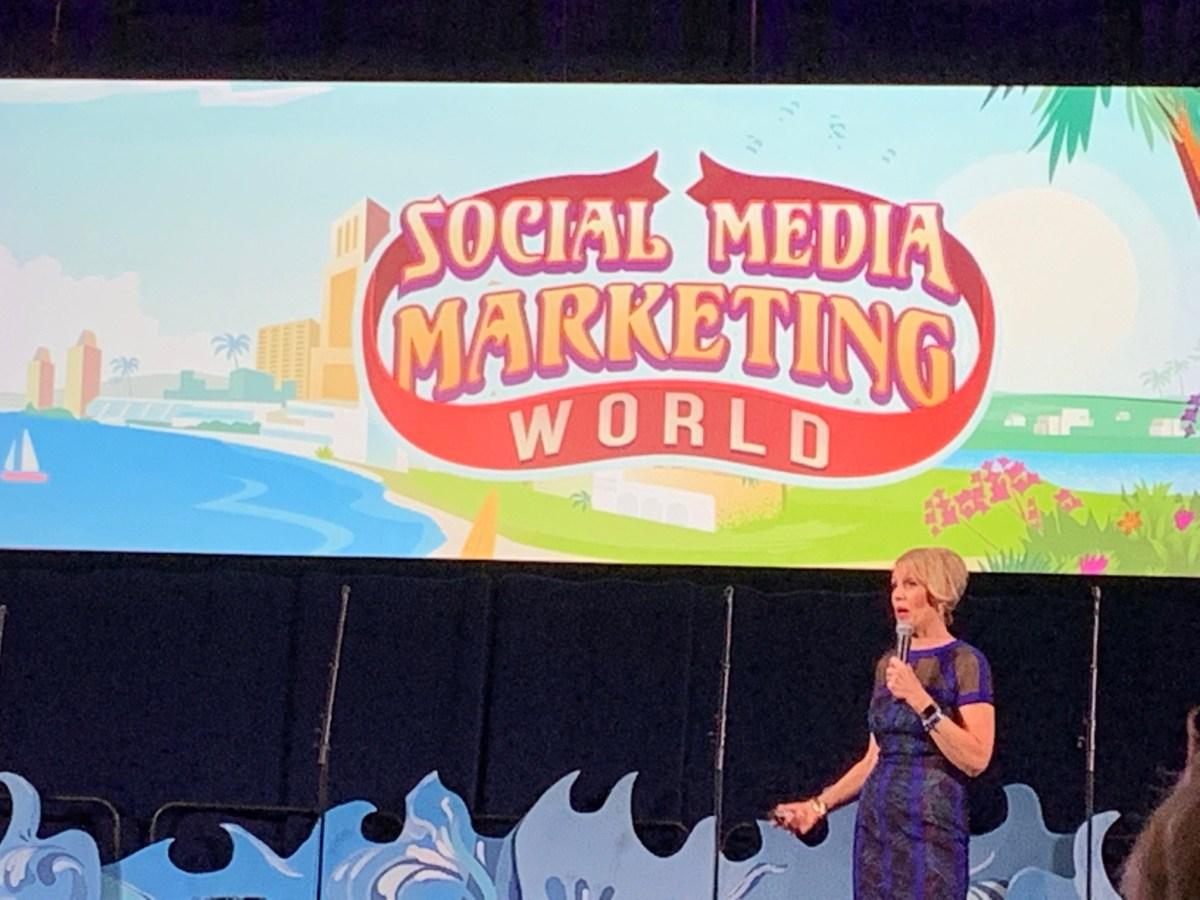 Mari Smith speaking at Social Media Marketing World