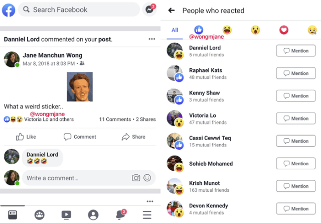 Facebook like test