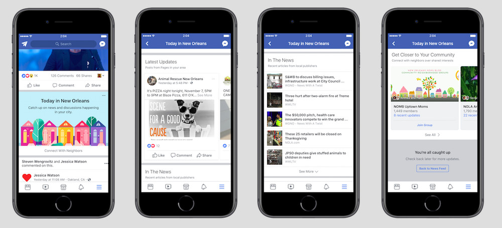 Facebook's Testing a New Local News and Events Section to Prompt Civic Engagement | Social Media Today