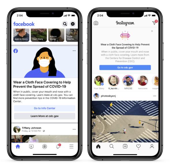 Facebook mask prompt