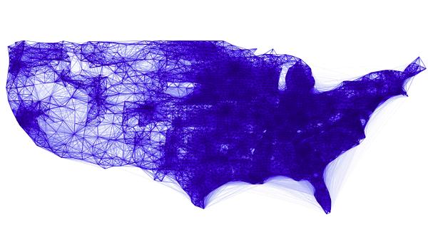 Facebook co-location map