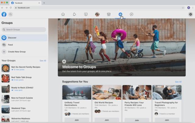 Facebook desktop refresh