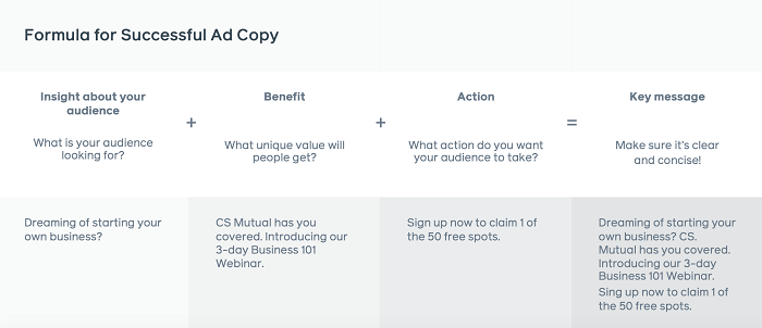 Bản sao quảng cáo tạo khách hàng tiềm năng trên Facebook