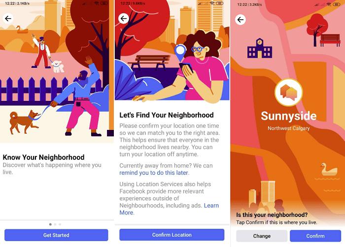 Facebook Neigborhoods