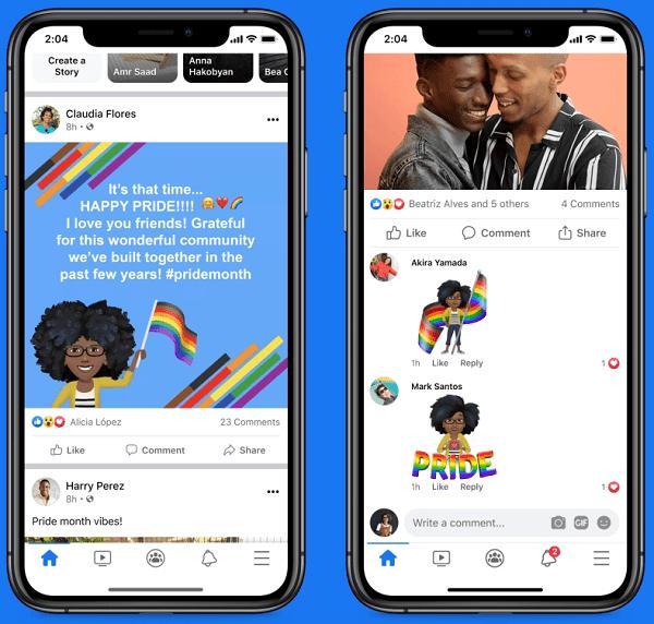 facebook instagram pride month
