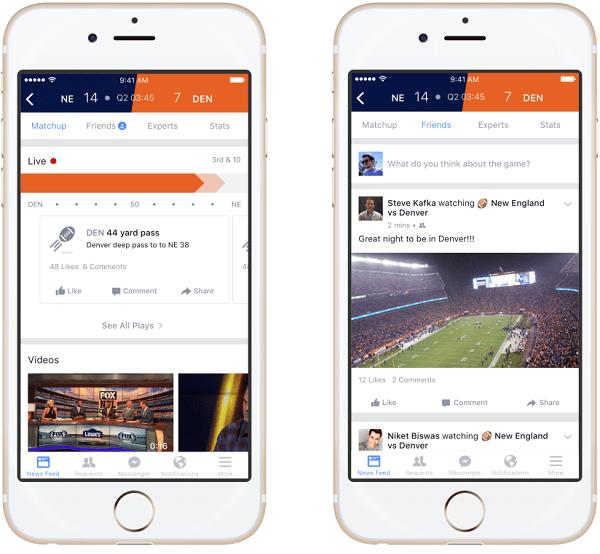Facebook Sports Stadium screenshots