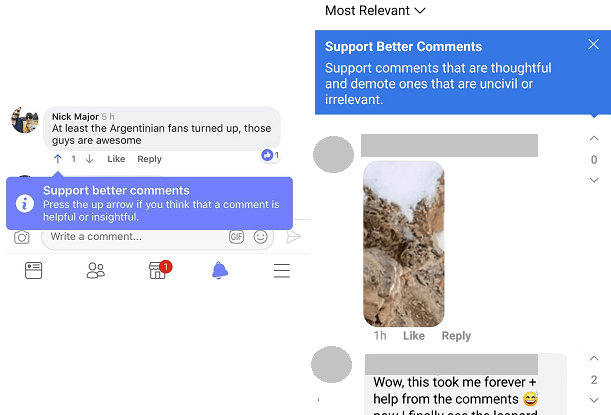 Facebook upvote