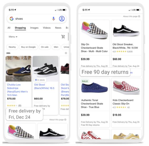 Google Shopping listings update