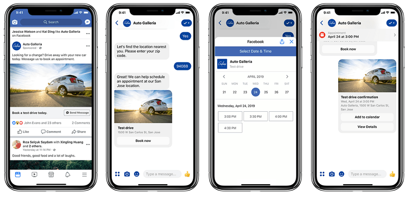 Messenger lead ads example