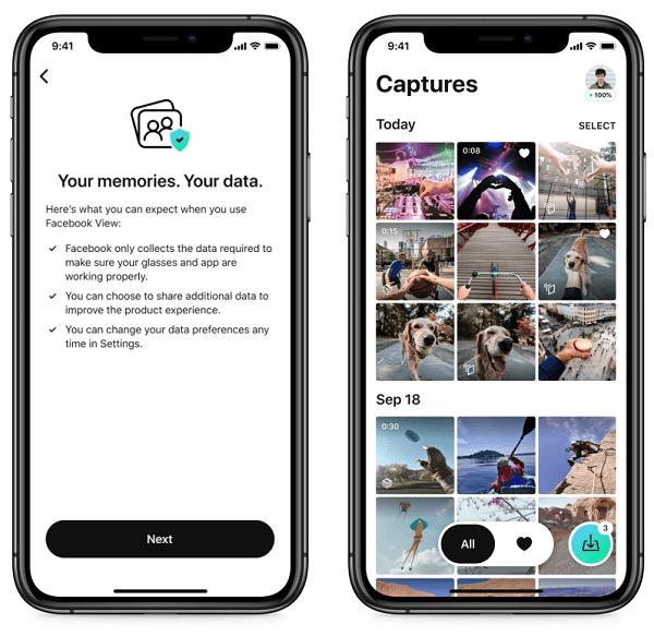 Ray Ban Stories app