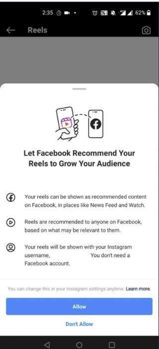 Reels sur Facebook