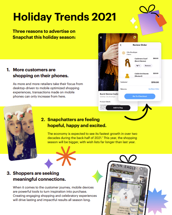 Snapchat holiday guide