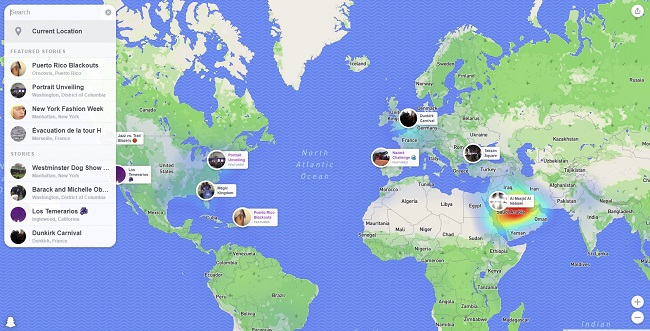 Snapchat Makes Snap Map Available on the Web, with Options to Embed Stories Content | Social Media Today