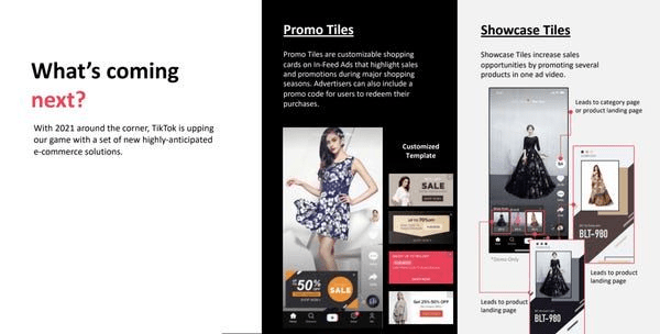 TikTok product display options