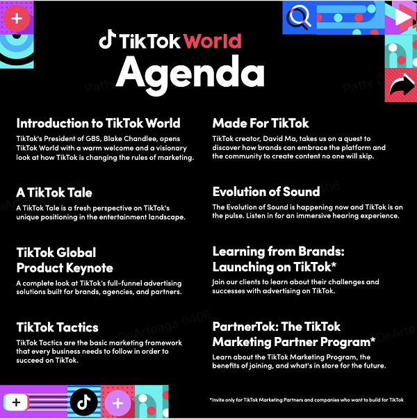 TikTok World agenda