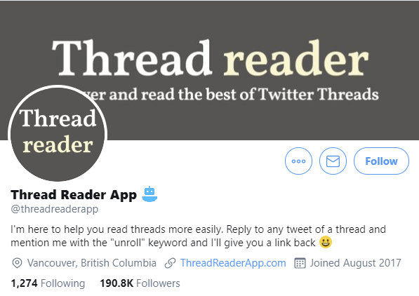 Twitter bot profile mock-up