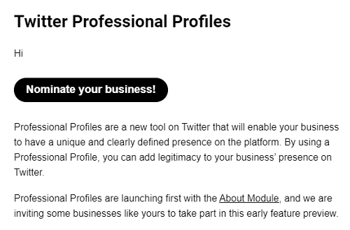 Twitter Professional Profiles email
